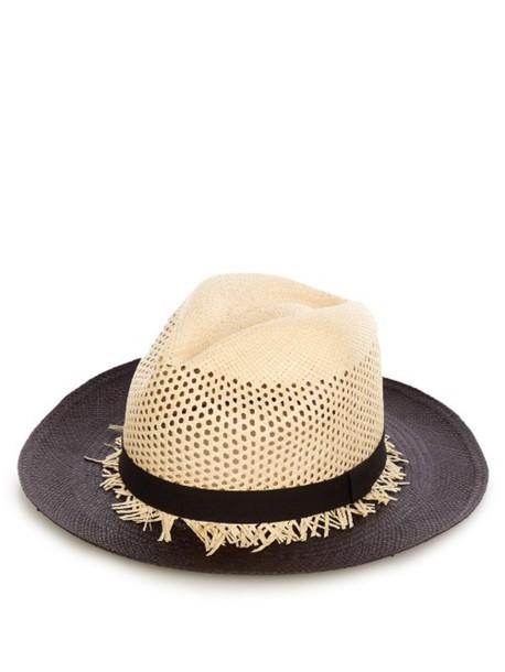 SENSI STUDIO Panama Calado hat in black / beige / beige