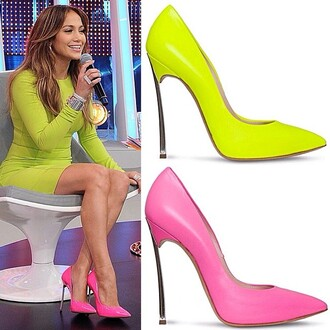 shoes neon jennifer lopez