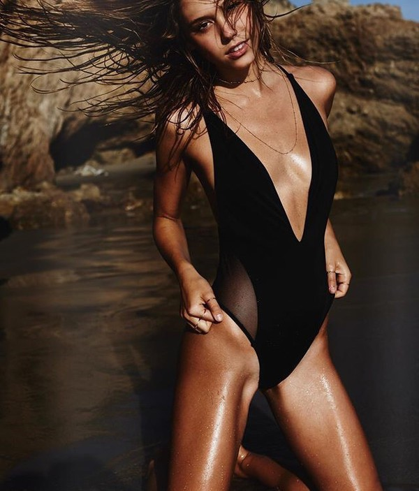 swimwear alexis ren black black bathingsuit