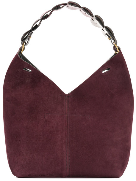 Anya Hindmarch - heart strap bucket tote - women - Leather - One Size, Red, Leather