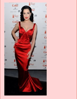 dress zac posen dita von teese satin dress