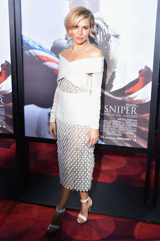 mesh sienna miller white white dress