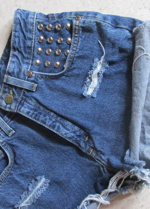 High Waist Nieten Zerissene Destory Jeans Shorts Vintage Lee - kleiderkreisel.de