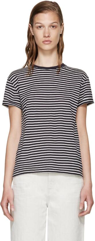 t-shirt shirt white t-shirt navy white top