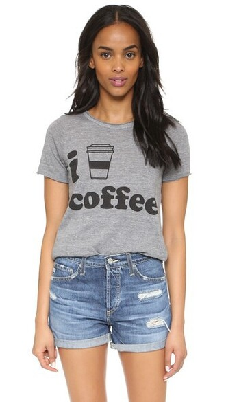 heart coffee grey top