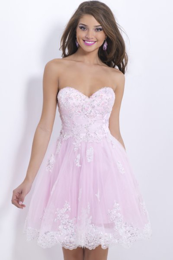 pink dress 2014 lace dress sweetheart dress homecoming dress lovely dress cheap cocktail gown
