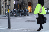 neon skirt,neon yellow,yellow skirt,puff skirt,skirt
