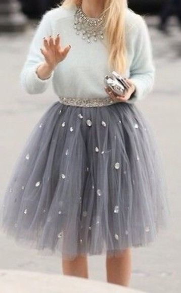 jewels tulle skirt jewelry bag