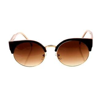 sunglasses cats eye sun glasses brown cateye cat eye summer