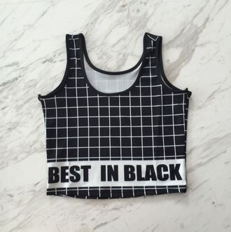 top crop tops it girl shop black black and white crop urban indie hipster swag grunge cute