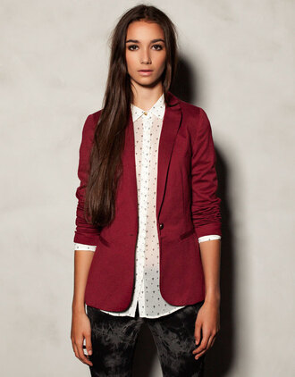 Dark Red Blazer - Shop for Dark Red Blazer on Wheretoget
