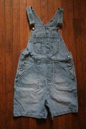 romper,denim,shortalls,overalls,small,denim overalls,grunge,90s grunge