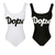Scoop Neck Polyester Letters Fashion Swimwear : KissChic.com