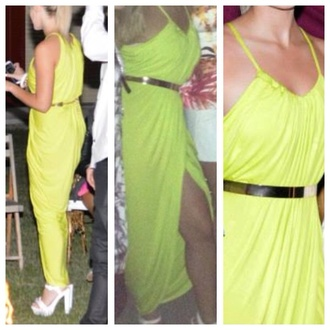 dress maxi maxi dress bright bright dress yellow bright yellow evening dress formal formal dress beautiful amazing stunning dress stand out brand brand name party party dress