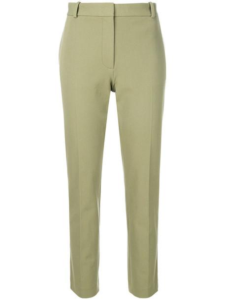 women classic spandex cotton green pants