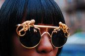 sunglasses,gold,gold round sunglasses,gold sunglasses,jewels,dope,swag