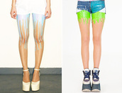 underwear,neon,colorful,fashion,tights,dripping