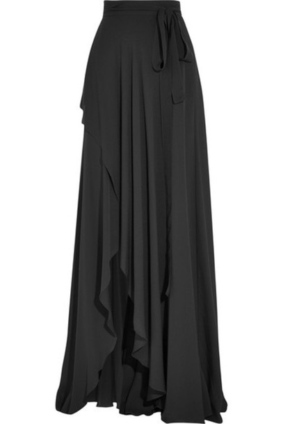 matching in colour many fashionable numerousinvariety Elie Saab - Fluted Silk-georgette Wrap Maxi Skirt - Black