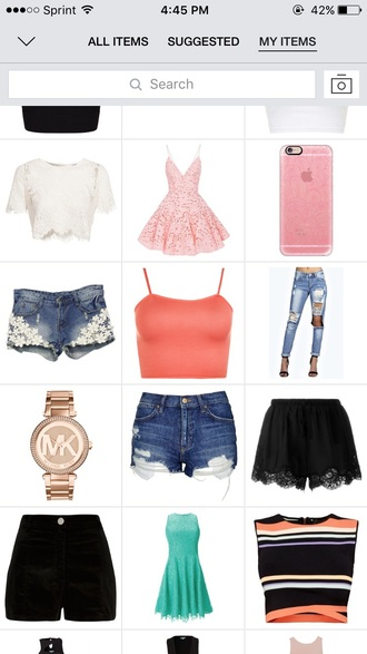 blouse strappy jeans ripped jeans crop tops peach pink dress high waisted shorts