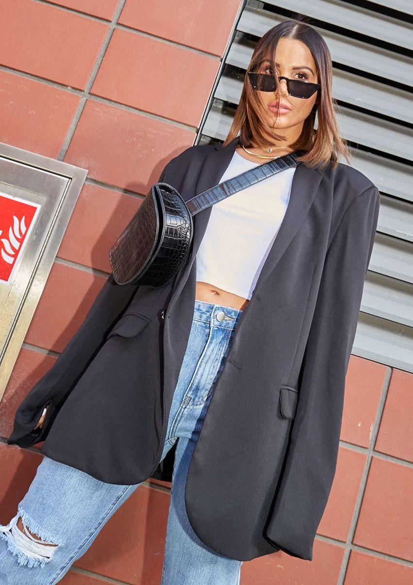 Mae Black Oversized Blazer