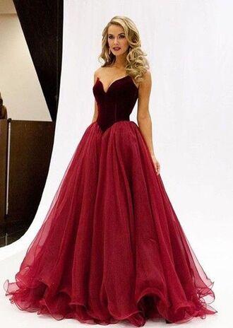 dress prom dress tulle dress burgundy velvet velvet dress sweetheart neckline sweetheart dress red prom long prom dress elegant princess dress stunnig prom dresses lovely gorgeous dress