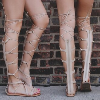 shoes long gladiators sandals sandals knee high gladiator sandals nude sandals