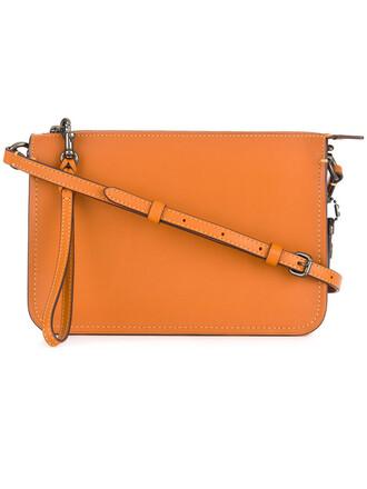 cross women bag leather yellow orange