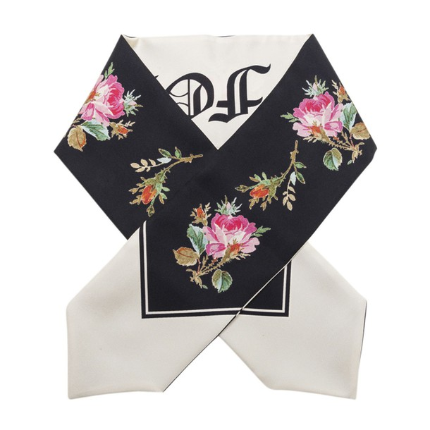 Gucci Blooms Scarf in black / multi
