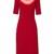 Minnie cut-out neck stretch-cady dress