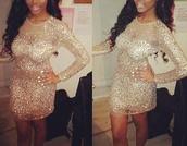 dress,mesh,jewels,glitter dress,nude,glitzy,long sleeve dress,mini dress,celebrity style,party dress,crystal,details,embellished