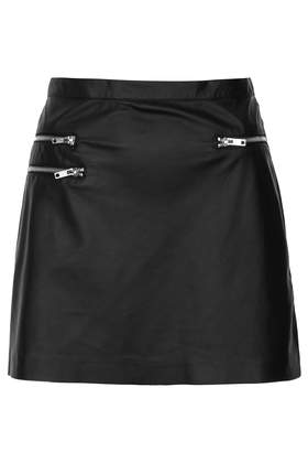Blacker Biker Mini Skirt - Skirts  - Clothing  - Topshop USA