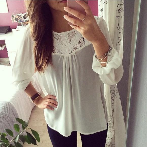 blouse cute shirt white jewels white blouse white shirt bracelets silver daniel wellington watch cute top