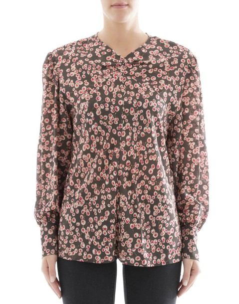 Isabel Marant blouse silk green multicolor top