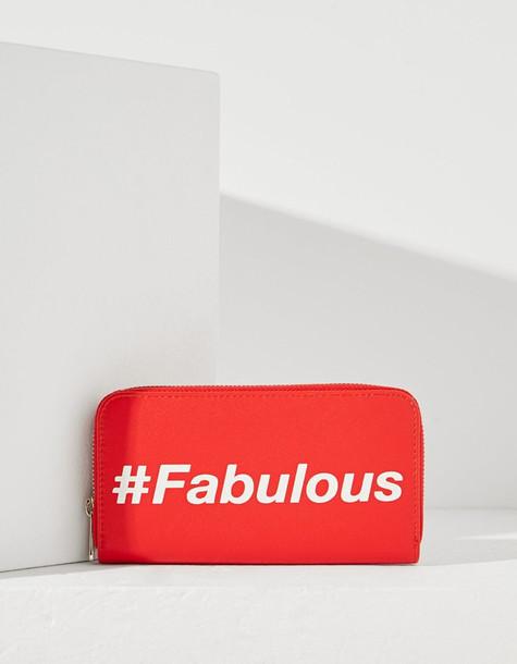 zip purse red bag