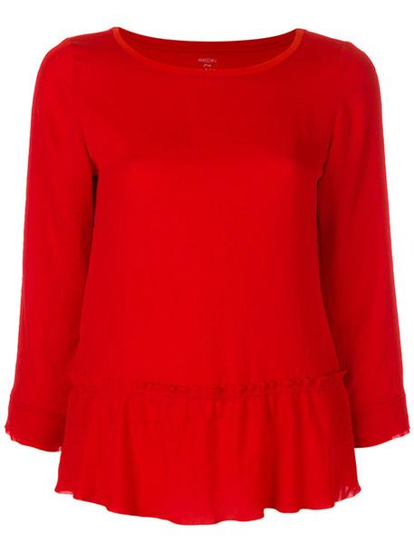 Marc Cain blouse women cotton red top
