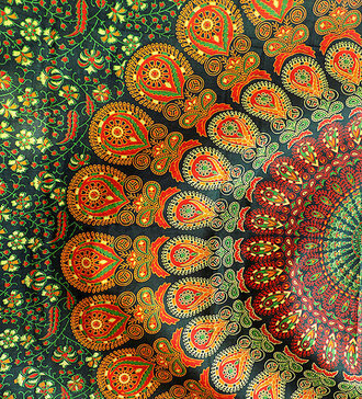 home accessory wall decor mandala wall hanging hippie bohemian boho gypsy beach throw blanket cotton fabric bedding mandala bedding mandala bedspread bedcover bedsheet decorative gypsy decor hippie decor boho decor bohemian decor bohemia beach tapestry beach blanket green green color ethnic home decor wall hanging tapestry tapestry inc royal blue color block cardigann wall hangings bedspreads women dorm room gift ideas holiday gift beach