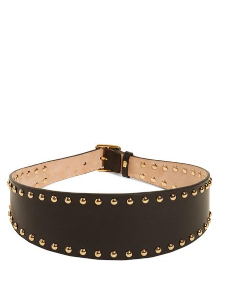 embellished belt waist belt leather black