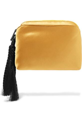 clutch silk satin gold mustard bag