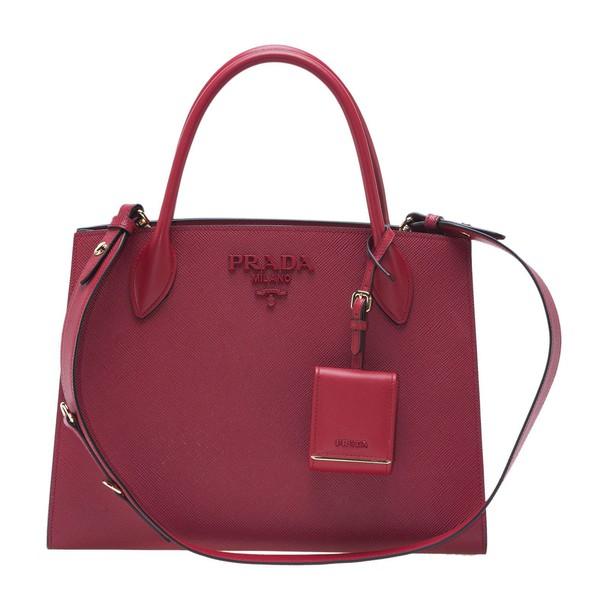 Prada monochrome red bag