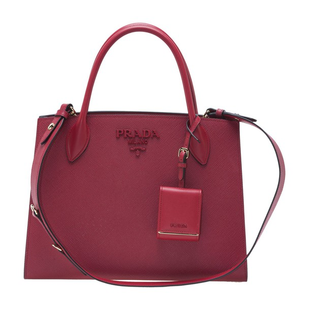 monochrome red bag