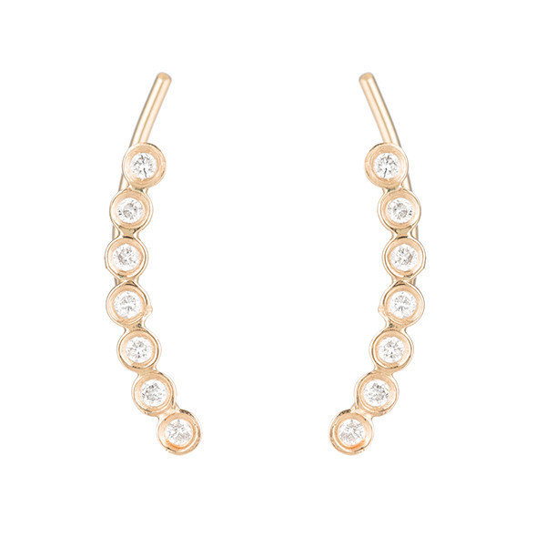 Diamond Bezel Ear Pin | Ariel Gordon