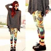 pants,bigpullover,black,grunge,leggings,pullover,blouse,shoes black grunge flat,black sunglasses