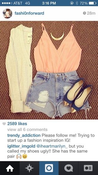 shirt pink peach v neck scoop cute sexy chic summer fun adorable shorts denim hot sweater jewels