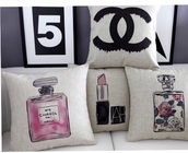 bag,pillow chanel 5,home accessory,pillow,chanel