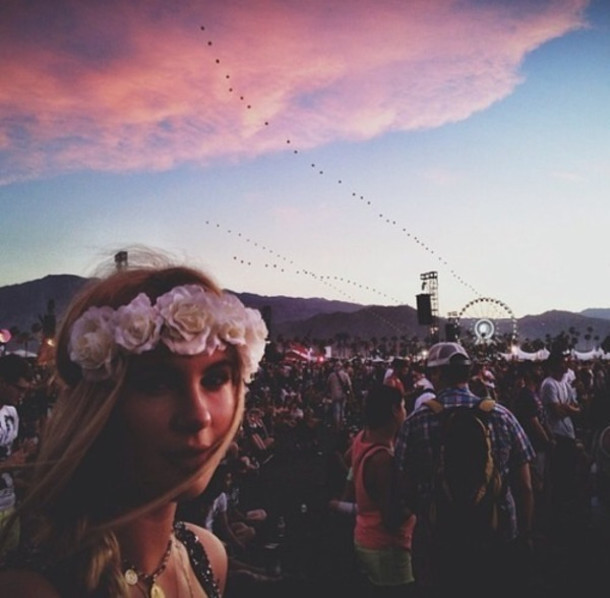 hair accessory hippie festival hip flowers