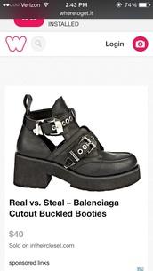 shoes,black,cut-out,boots,balenciaga