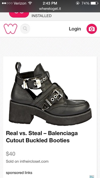 shoes black cutout boots balenciaga