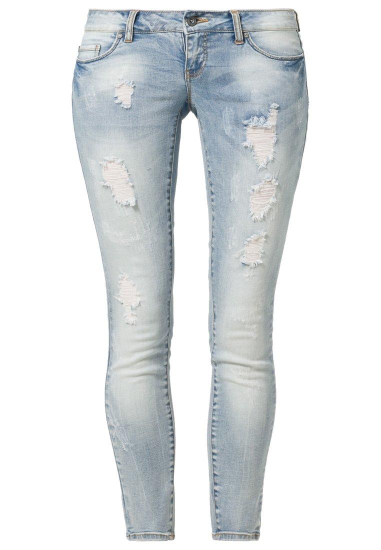 ONLY CORAL - Jeans Slim Fit - light blue denim - Zalando.de
