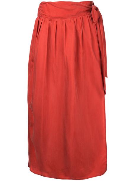 08Sircus skirt long skirt long women red