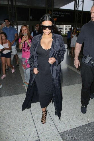 skirt top maxi skirt kim kardashian all black everything sunglasses